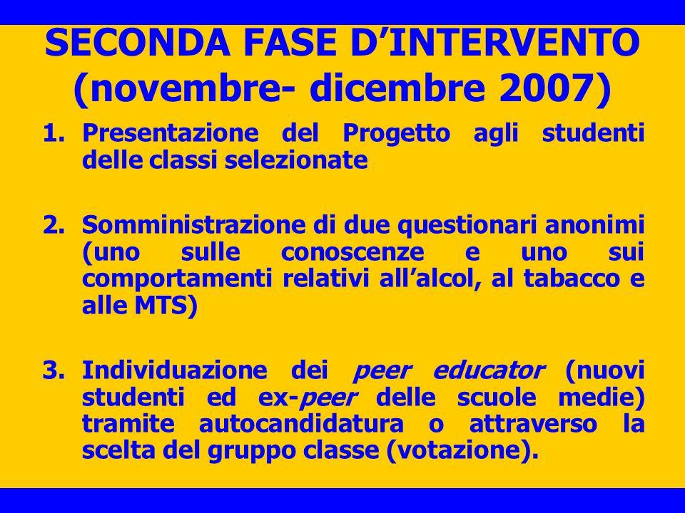 SECONDA FASE D'INTERVENTO (novembre- dicembre 2007)