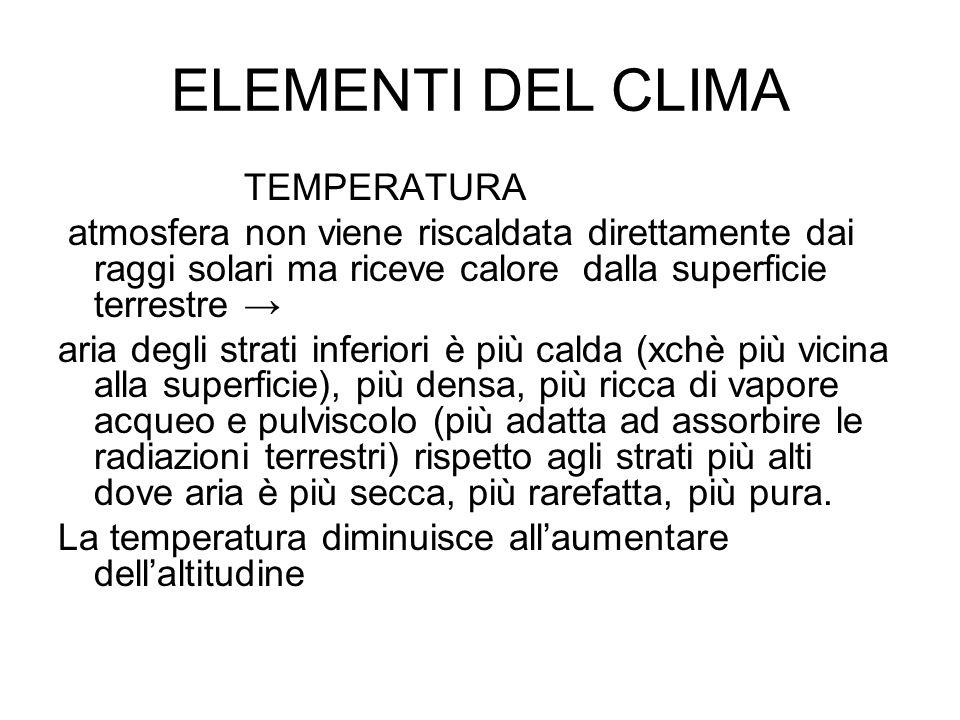 ELEMENTI DEL CLIMA TEMPERATURA