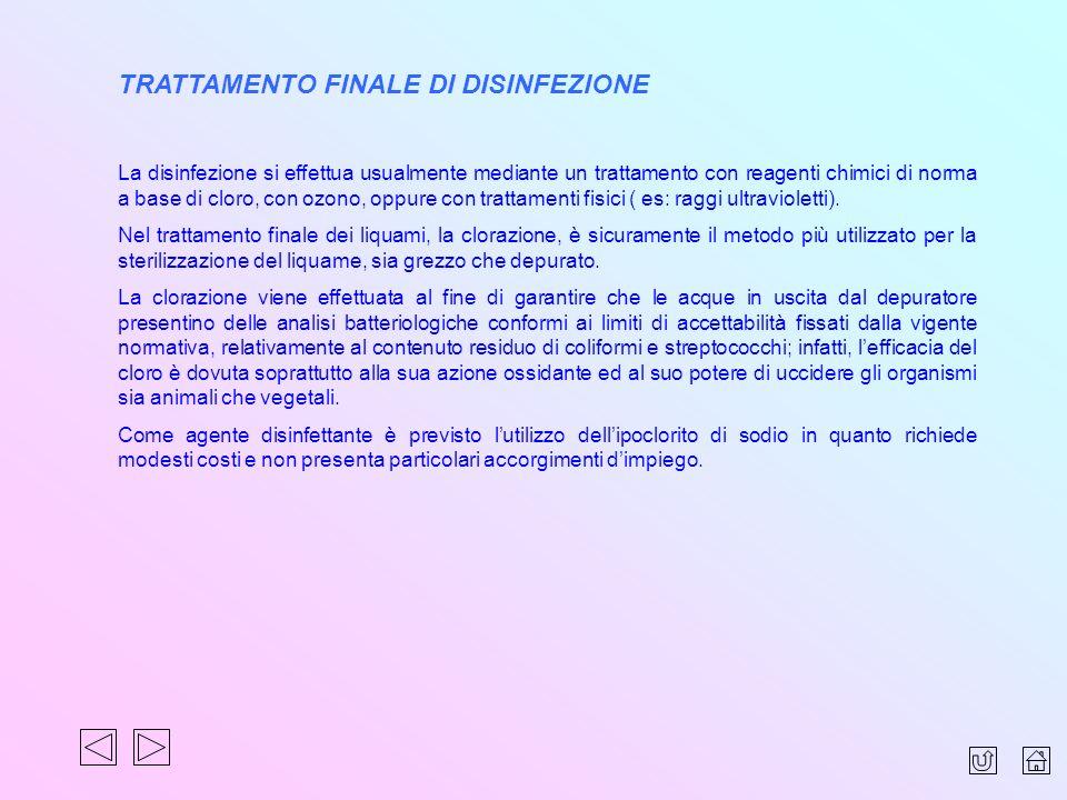 TRATTAMENTO FINALE DI DISINFEZIONE