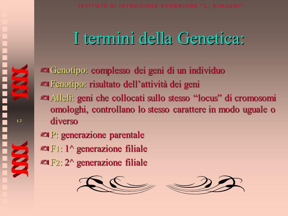 I termini della Genetica: