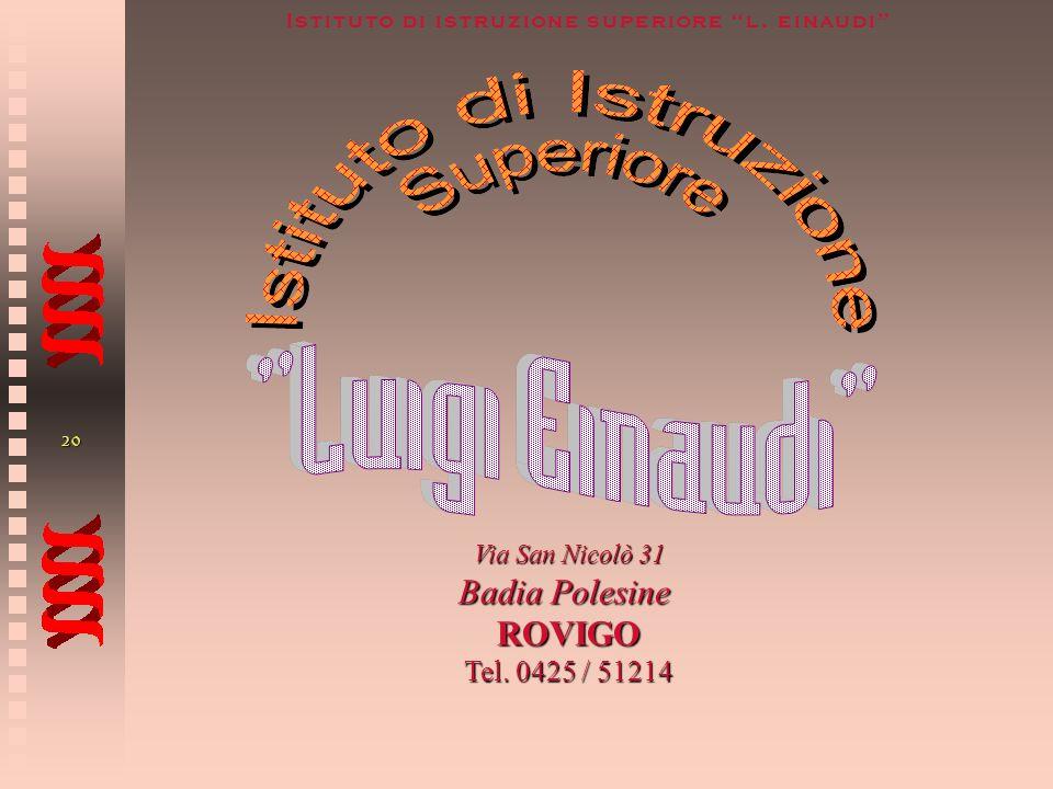 Via San Nicolò 31 Badia Polesine ROVIGO Tel. 0425 / 51214