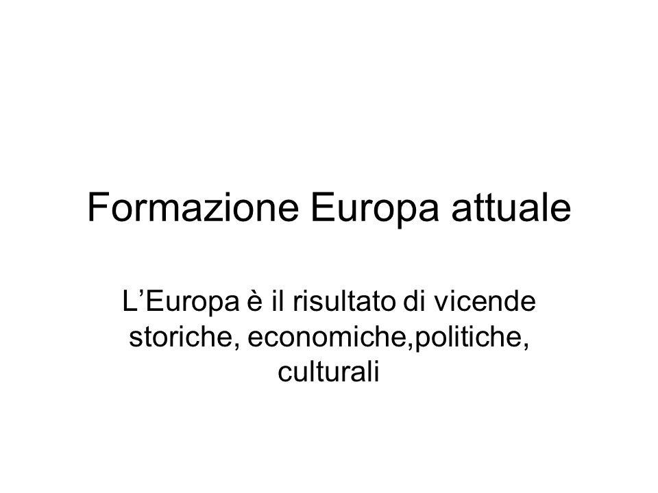 Formazione Europa attuale