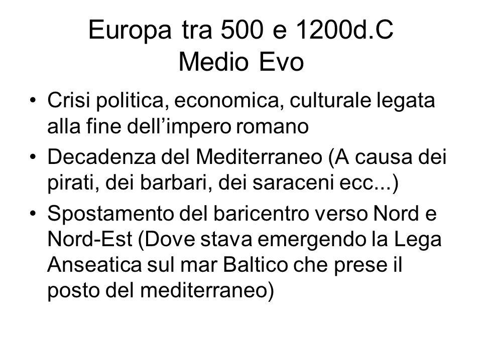 Europa tra 500 e 1200d.C Medio Evo