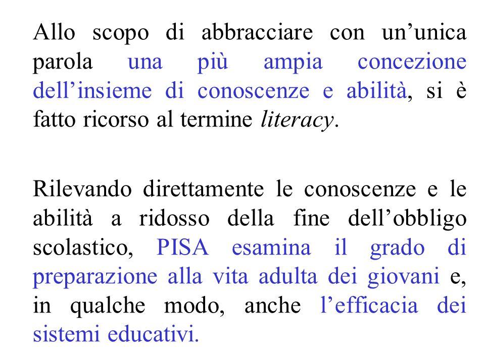 Allo scopo di abbracciare con un'unica parola una più ampia concezione dell'insieme di conoscenze e abilità, si è fatto ricorso al termine literacy.
