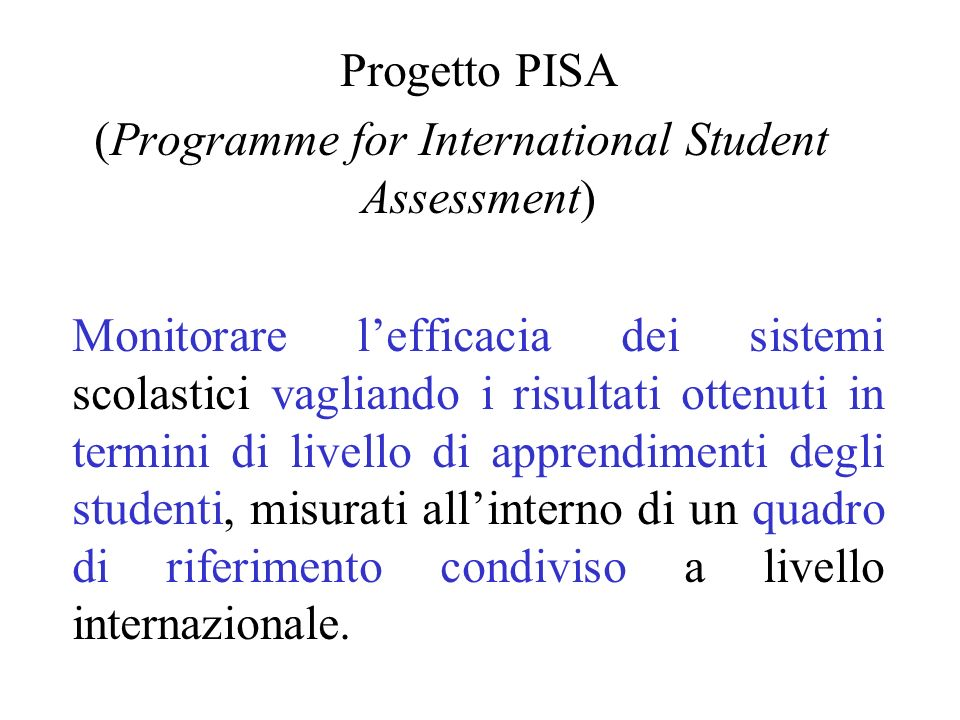 (Programme for International Student Assessment)