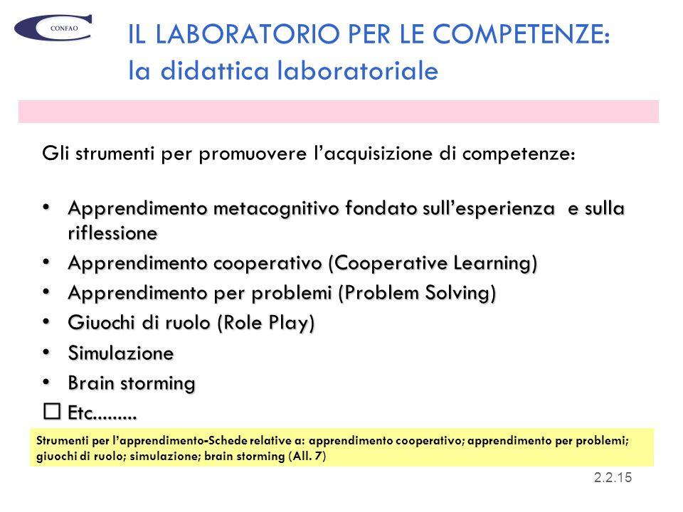 IL LABORATORIO PER LE COMPETENZE: la didattica laboratoriale