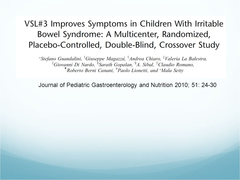 Journal of Pediatric Gastroenterology and Nutrition 2010; 51: 24-30