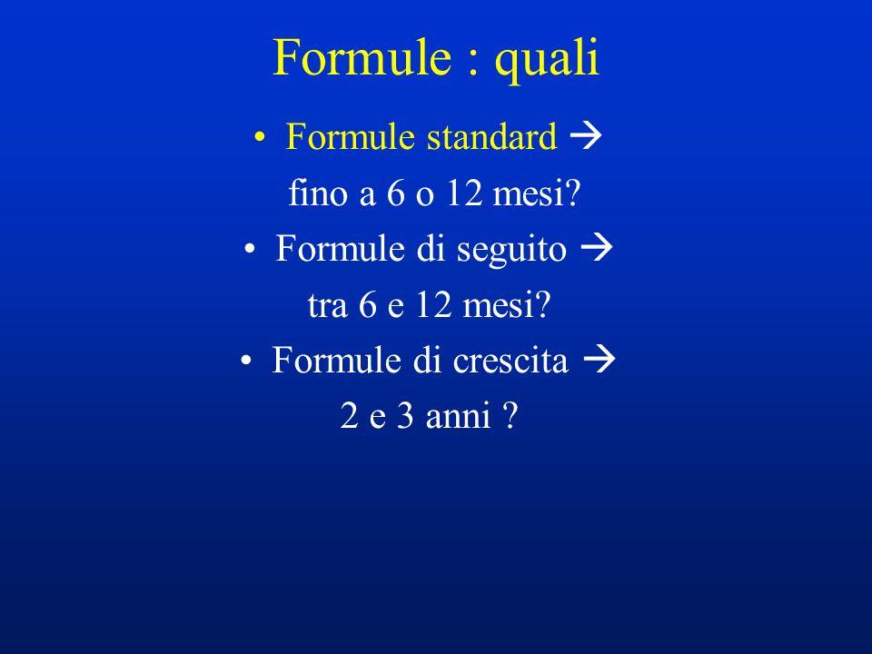 Formule : quali Formule standard  fino a 6 o 12 mesi
