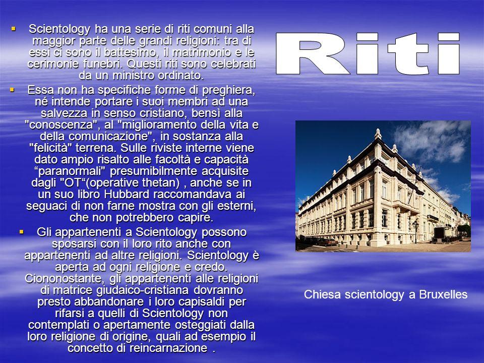 Scientology ha una serie di riti comuni alla maggior parte delle grandi religioni: tra di essi ci sono il battesimo, il matrimonio e le cerimonie funebri. Questi riti sono celebrati da un ministro ordinato.