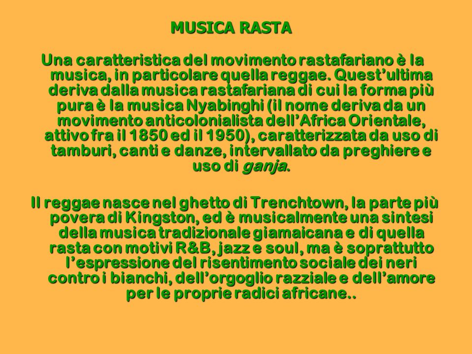 MUSICA RASTA
