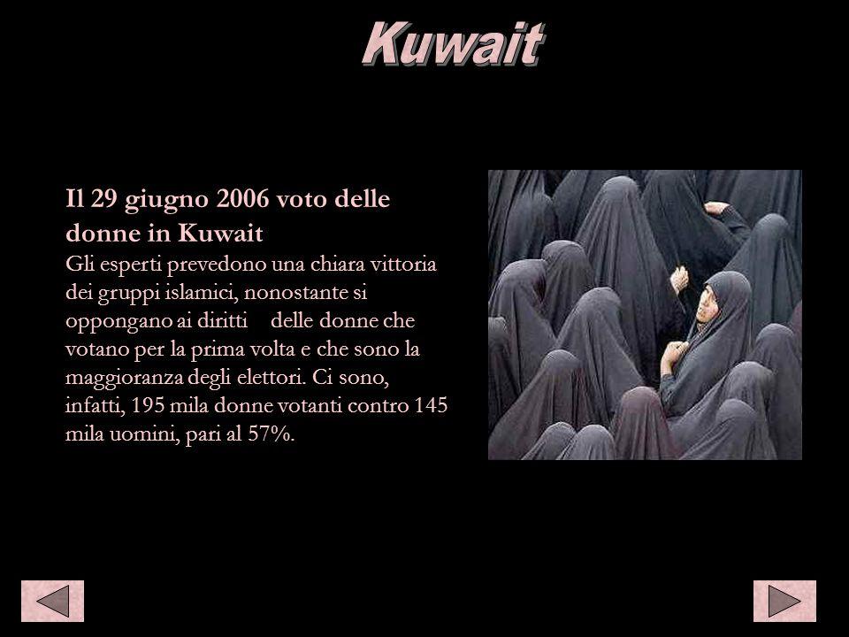 Kuwait Kuwait Il 29 giugno 2006 voto delle donne in Kuwait