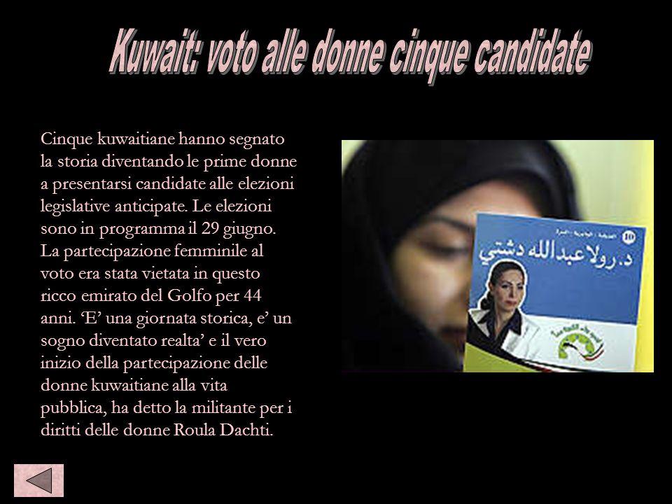Kuwait: voto, 5 donne candidate