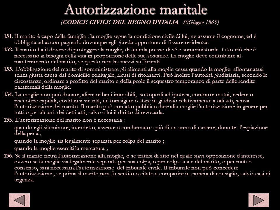 Autorizzazione maritale