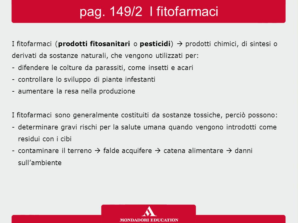 pag. 149/2 I fitofarmaci