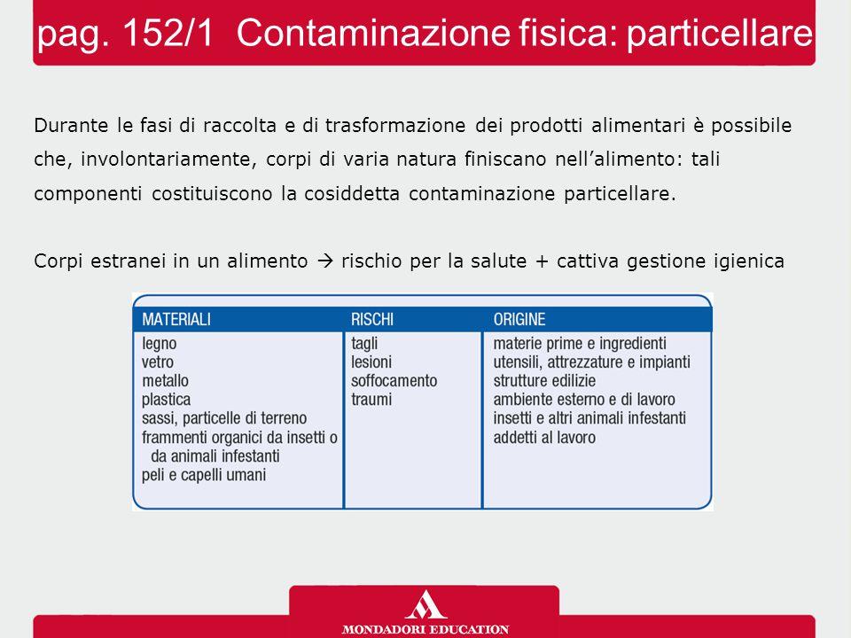 pag. 152/1 Contaminazione fisica: particellare