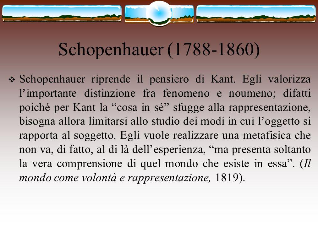 Schopenhauer (1788-1860)