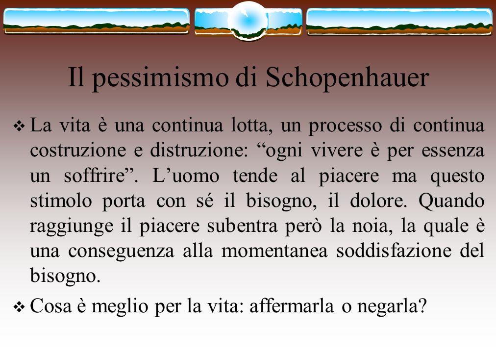 Il pessimismo di Schopenhauer