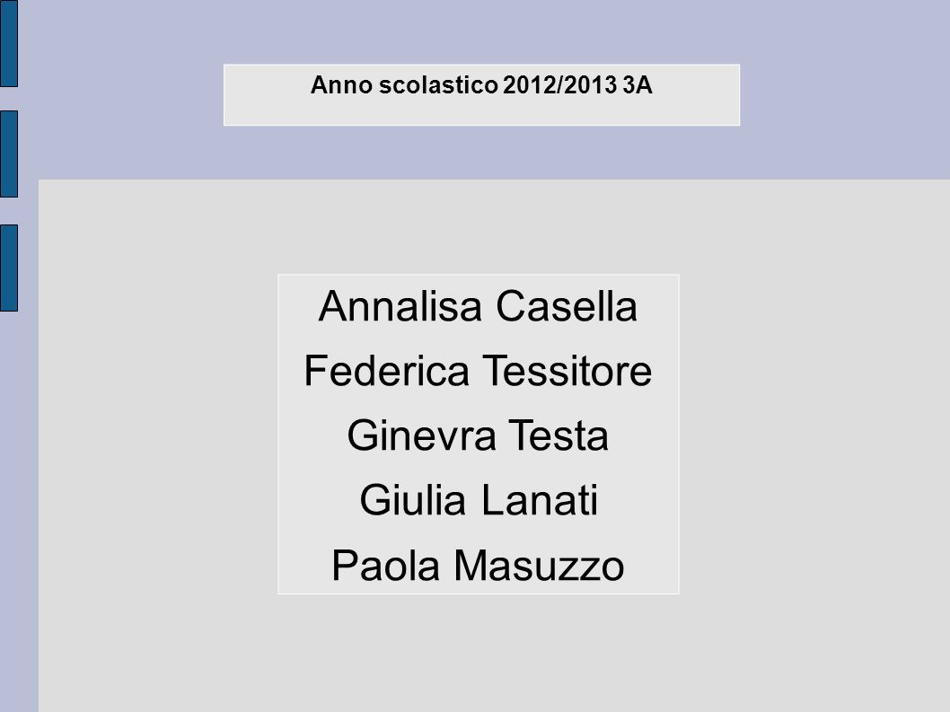 Annalisa Casella Federica Tessitore Ginevra Testa Giulia Lanati
