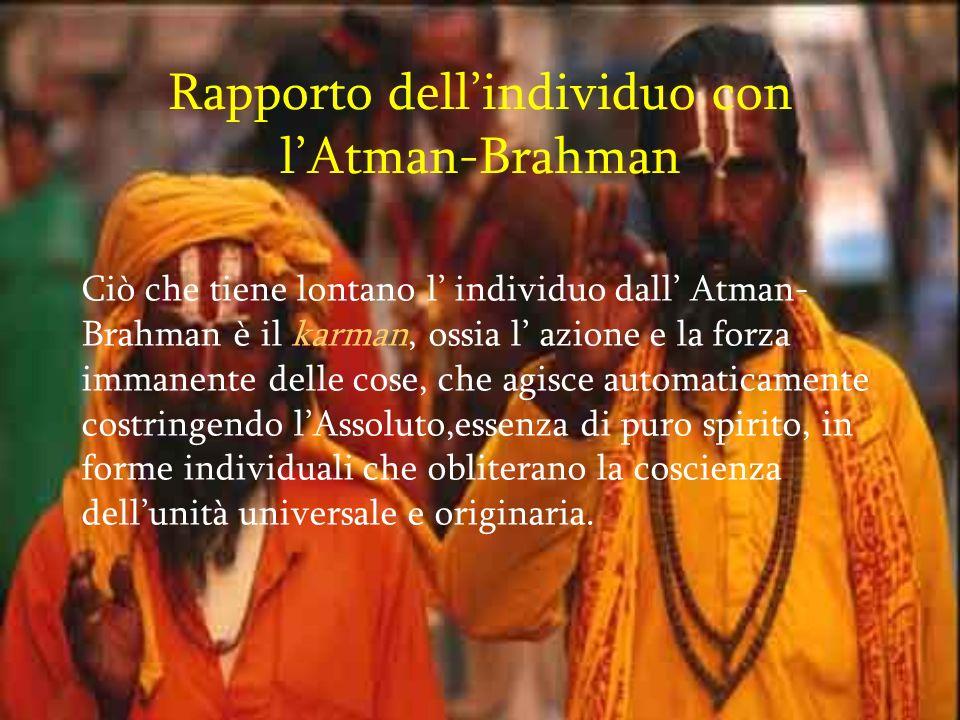Rapporto dell'individuo con l'Atman-Brahman