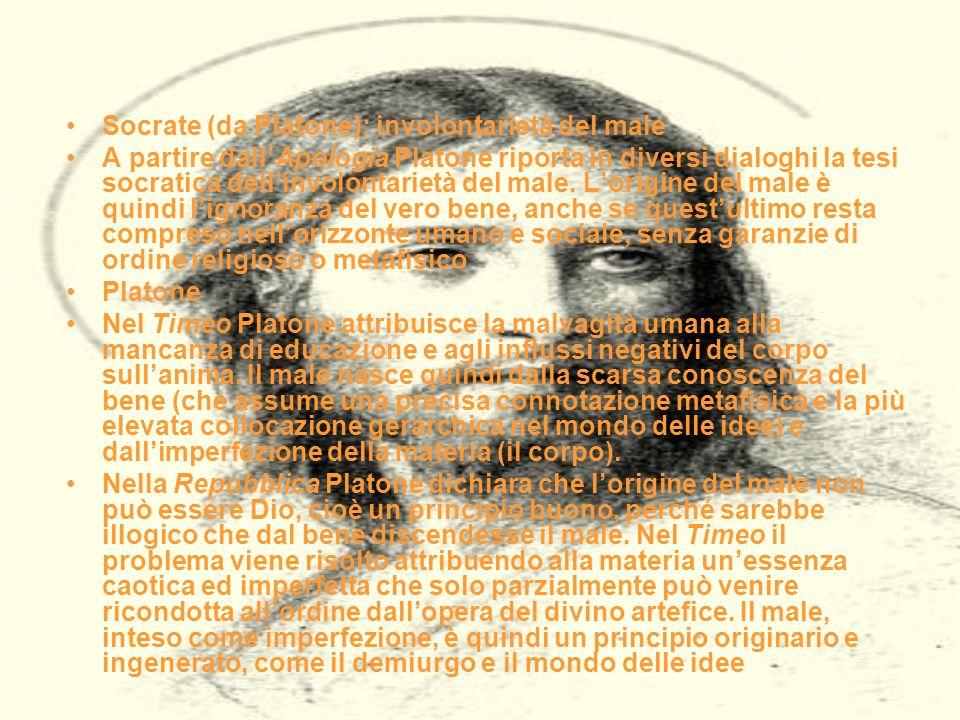 Socrate (da Platone): involontarietà del male
