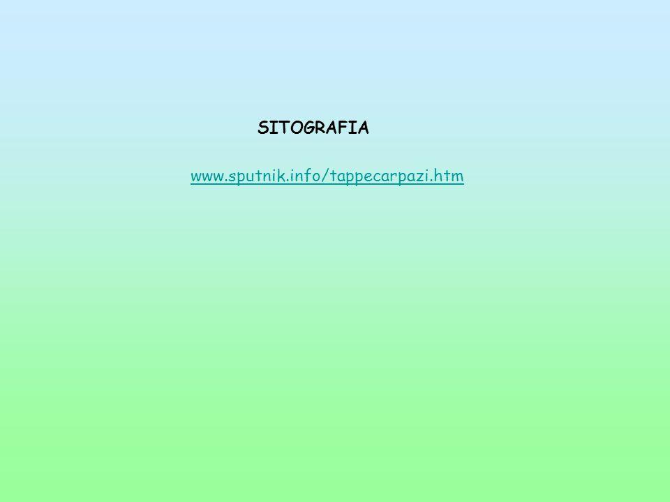 SITOGRAFIA www.sputnik.info/tappecarpazi.htm