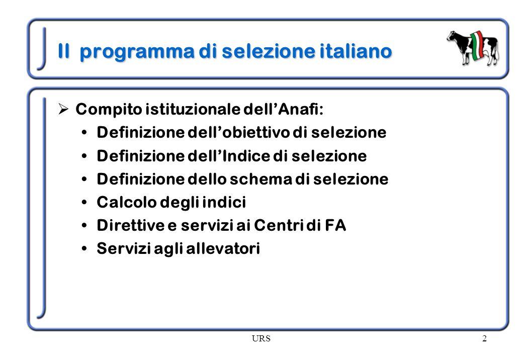 Il programma di selezione italiano