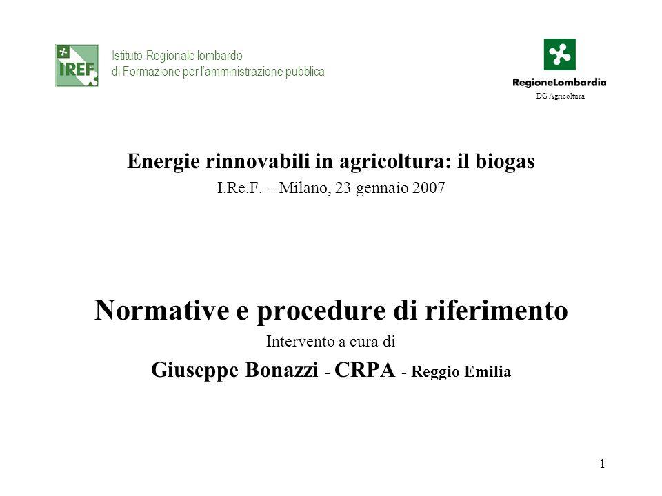 Normative e procedure di riferimento