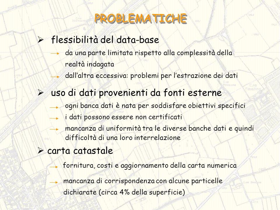 PROBLEMATICHE flessibilità del data-base