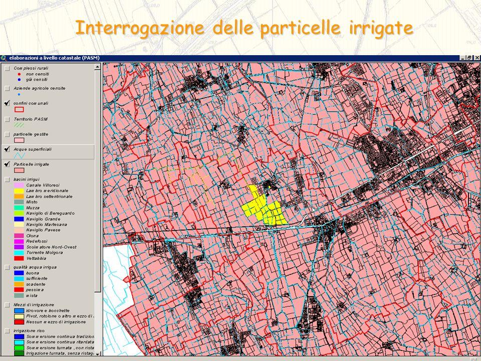 Interrogazione delle particelle irrigate