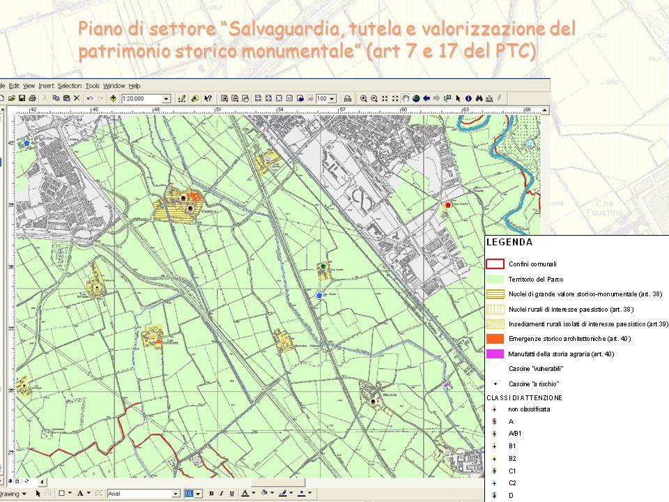 Piano di settore Salvaguardia, tutela e valorizzazione del patrimonio storico monumentale (art 7 e 17 del PTC)