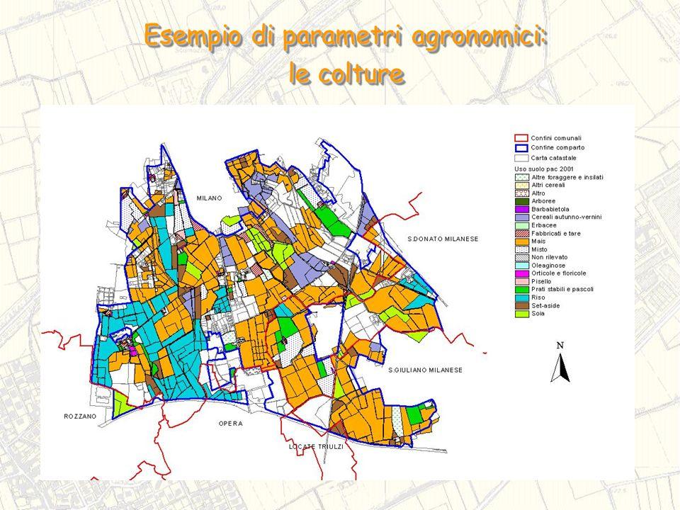 Esempio di parametri agronomici: le colture