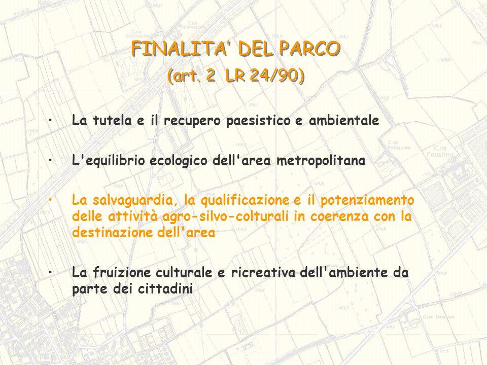 FINALITA' DEL PARCO (art. 2 LR 24/90)