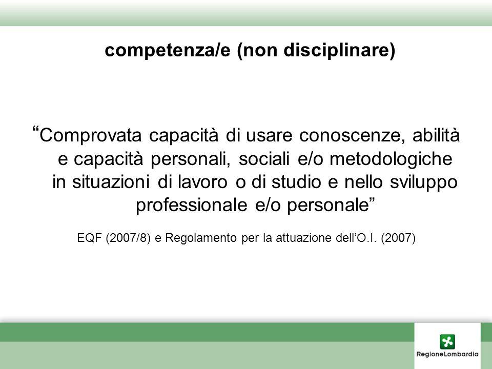competenza/e (non disciplinare)