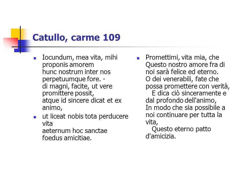 Catullo, carme 109