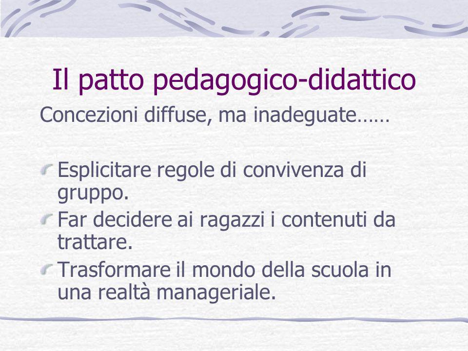 Il patto pedagogico-didattico