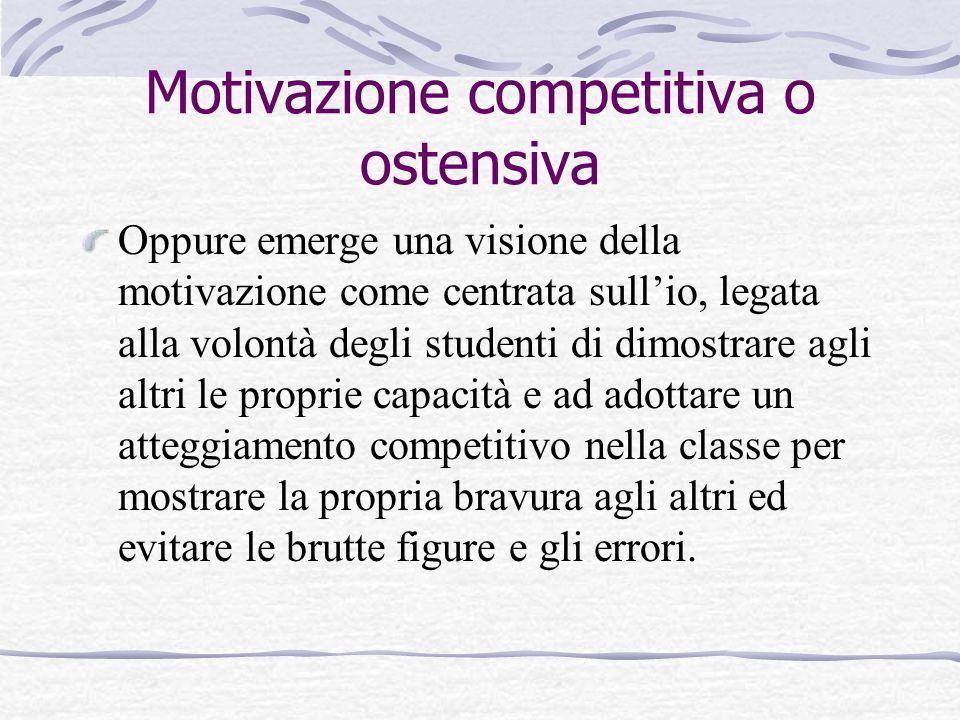 Motivazione competitiva o ostensiva