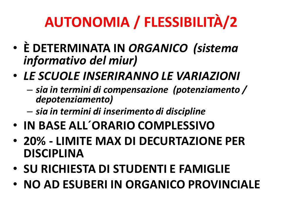 AUTONOMIA / FLESSIBILITÀ/2