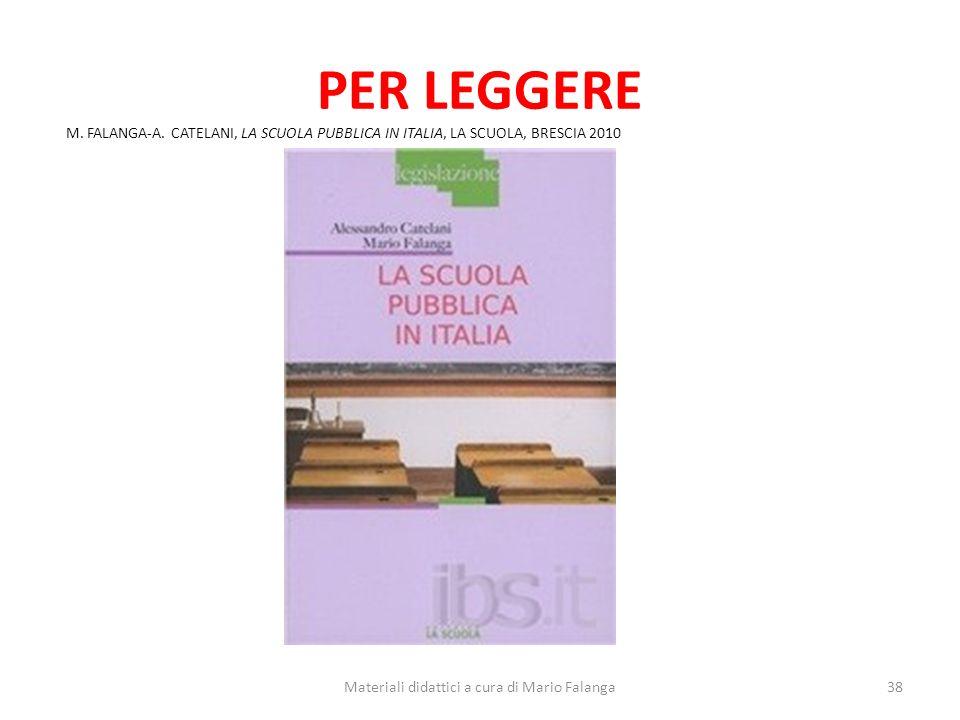 Materiali didattici a cura di Mario Falanga