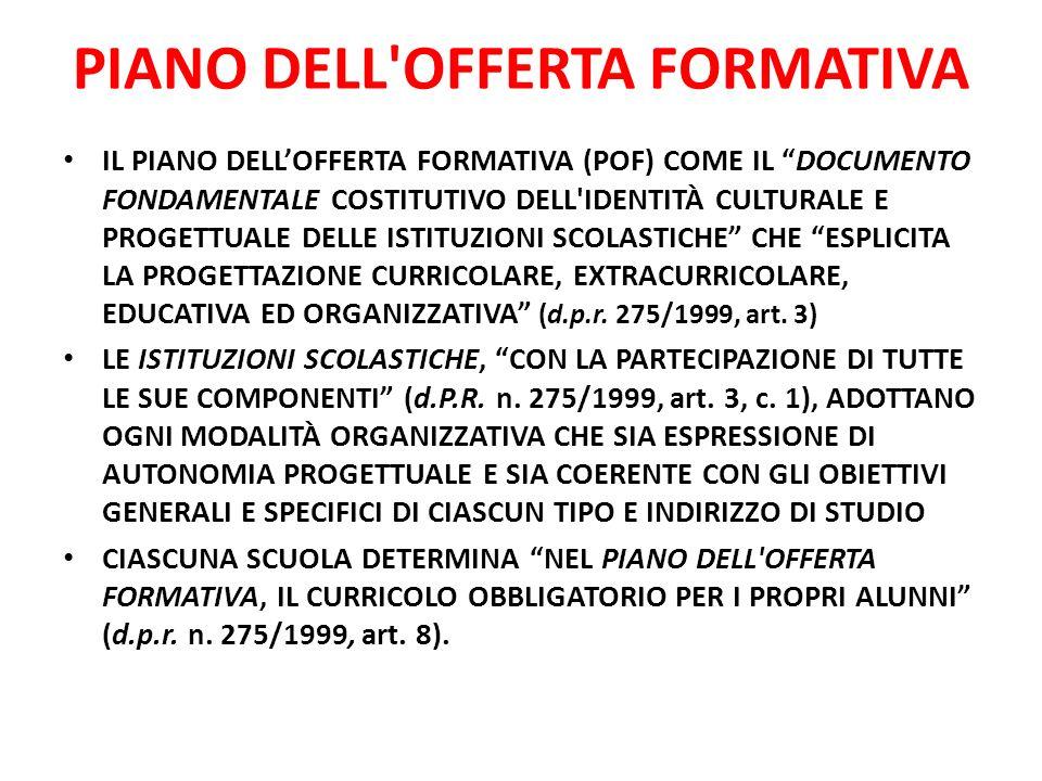 PIANO DELL OFFERTA FORMATIVA