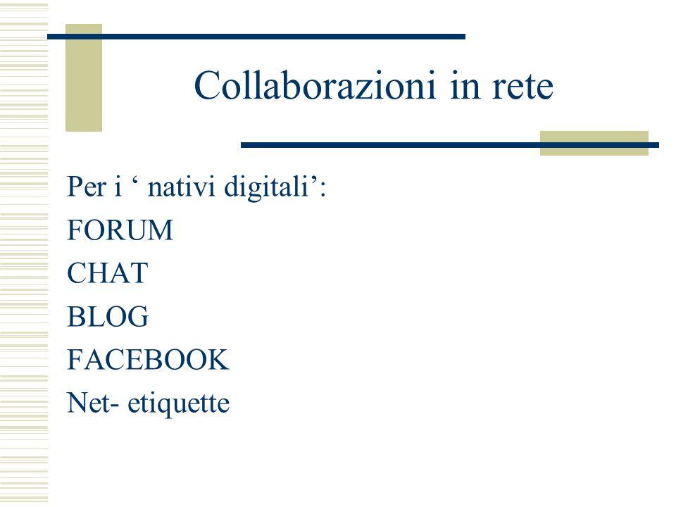 Collaborazioni in rete