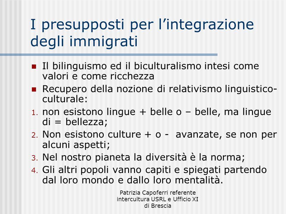 I presupposti per l'integrazione degli immigrati