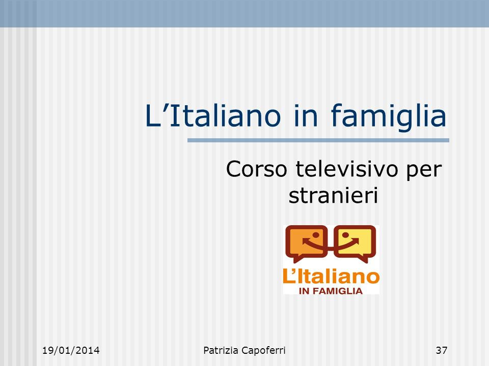 L'Italiano in famiglia