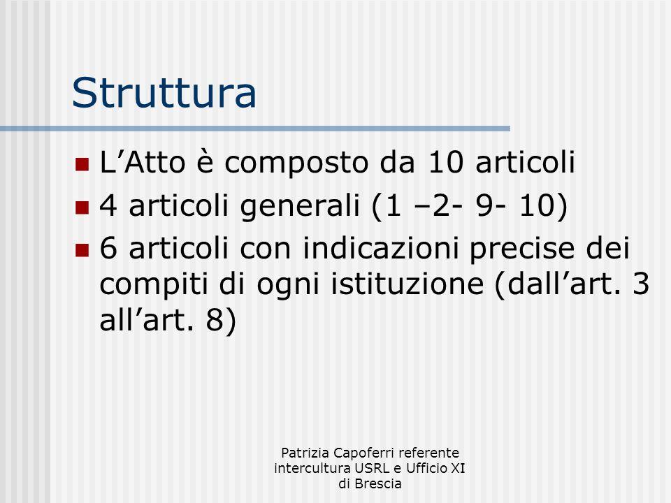 Patrizia Capoferri referente intercultura USRL e Ufficio XI di Brescia