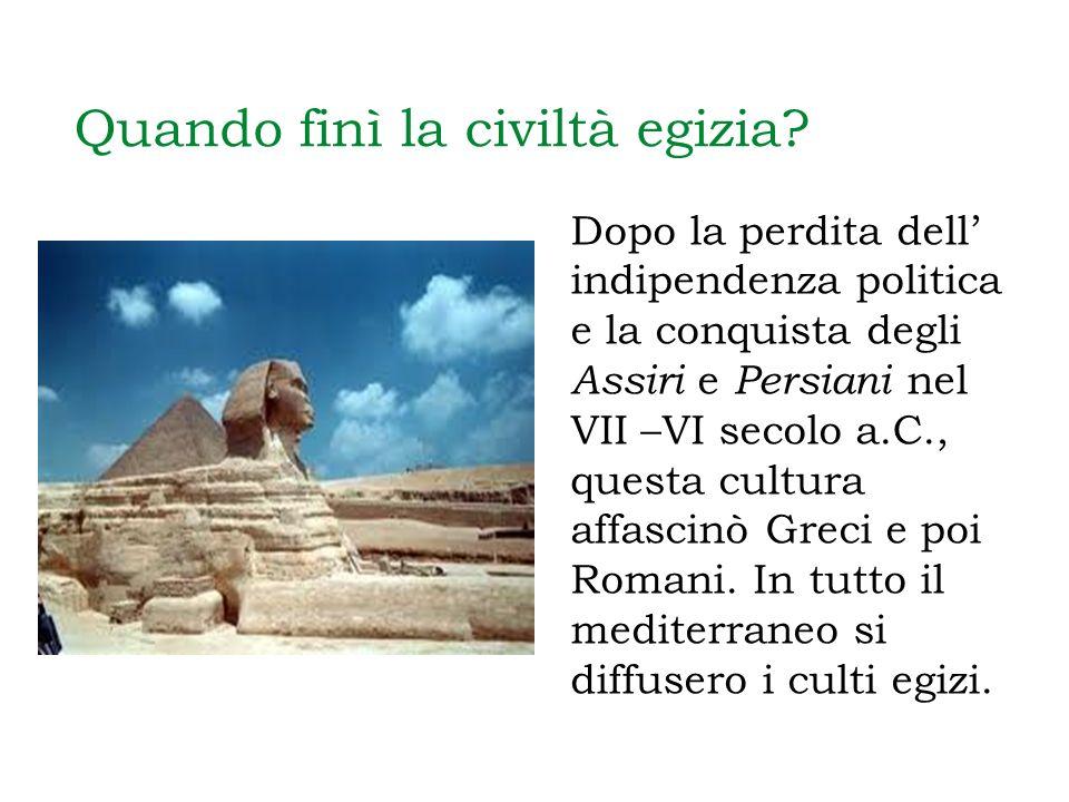 Quando finì la civiltà egizia