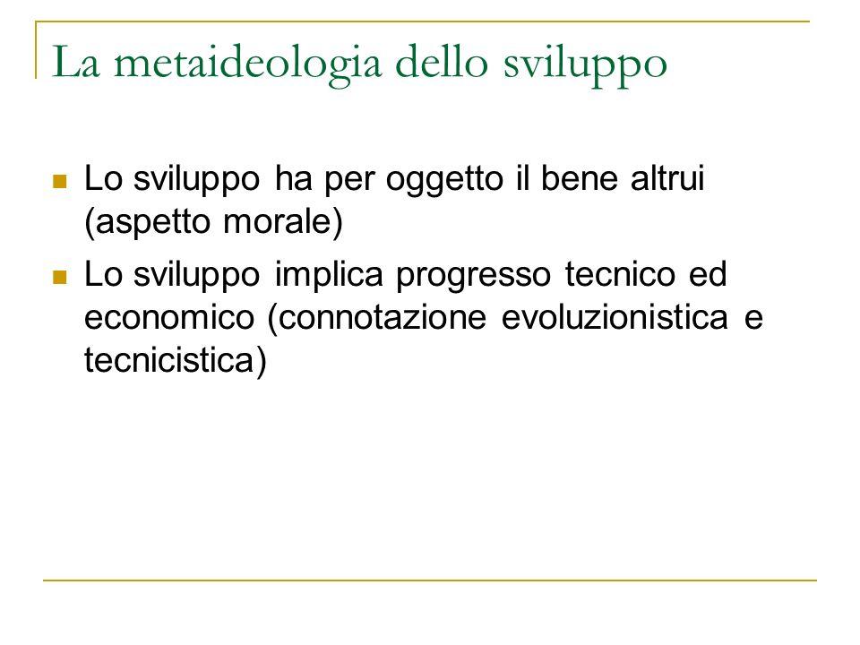 La metaideologia dello sviluppo