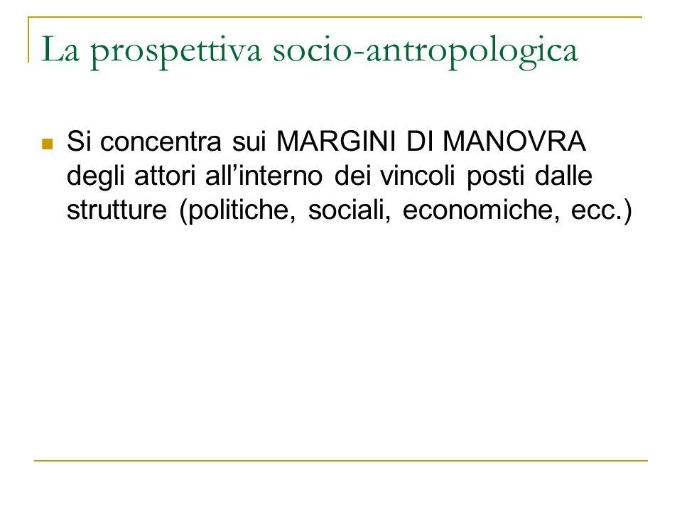 La prospettiva socio-antropologica