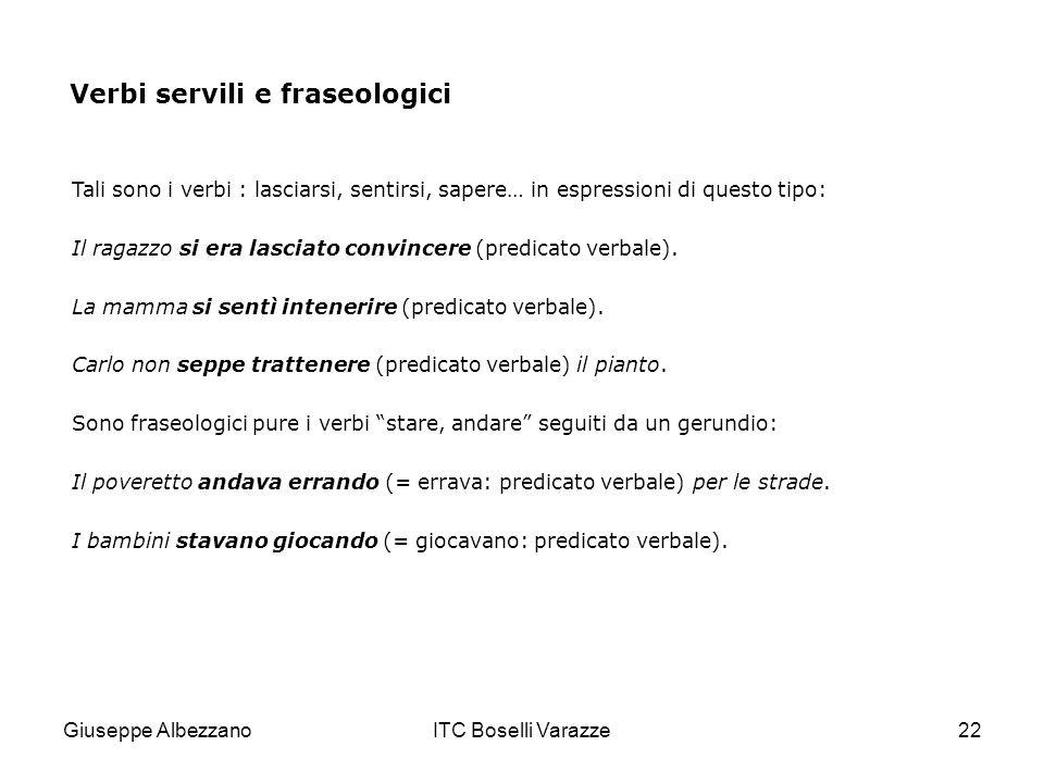 Verbi servili e fraseologici