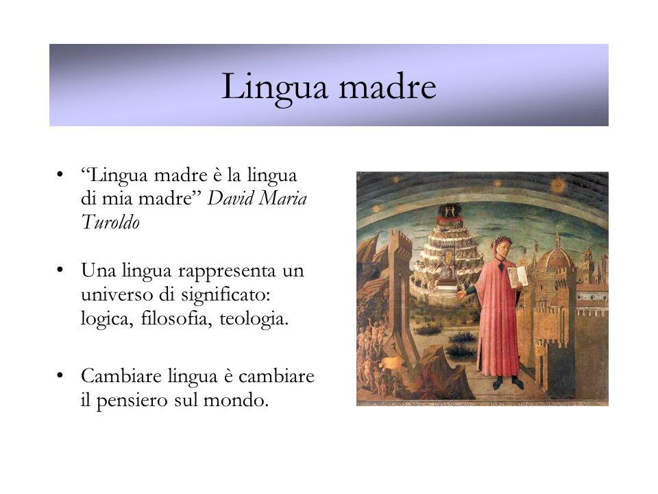 Lingua madre Lingua madre è la lingua di mia madre David Maria Turoldo.