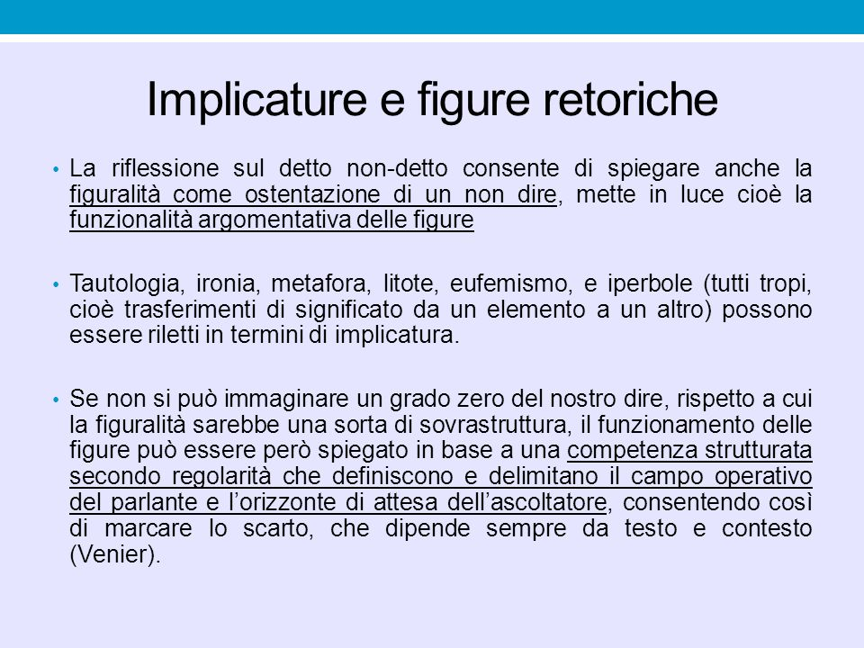 Implicature e figure retoriche