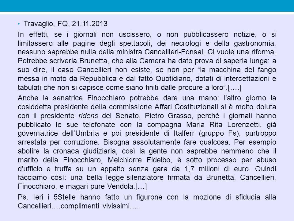 Travaglio, FQ, 21.11.2013
